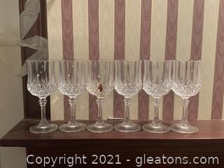 Cut Glass Stemware Set