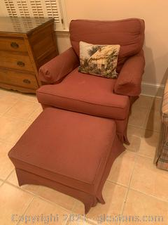 Sherrill Arm Chair and Ottoman