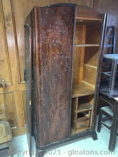 Vintage Clothing Armoire Converted to Storage/Office/TV Cabinet