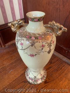 Nippon Guilded Porcelain Urn