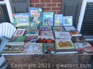 Lot of 24 Children Books / Random Ages / 11 Hard Back Children Books & 13 Soft Cover Children Books