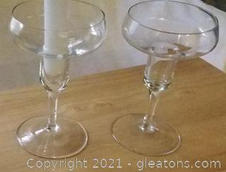 Pair of Toast Glasses / Taper Holders