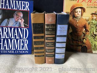5 books, three vintage readers digest,