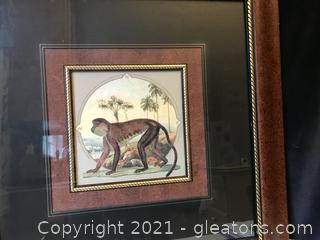 Nicely Framed print of Monkey