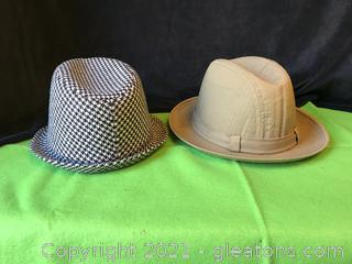 "Two men's hats ""Bear Bryant"" and Dobbs all weather hat"