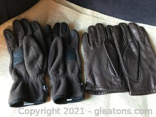 Two pair men's gloves