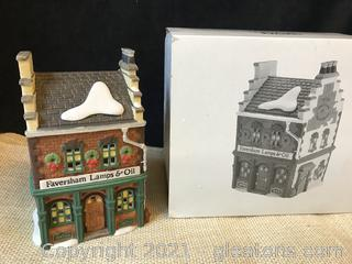 "Dept 56 Dickens Village ""Faversham Lamps and Oil"""