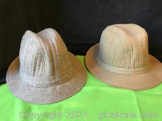 Two men's hats 1 Totes 1 Dobbs