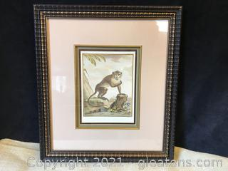 Signed and numbered print of Monkey