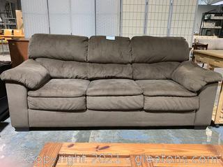 Plush Upholstered 3 Seater Sofa