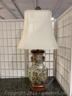 Vintage Toyo Trading Co. Chinoiserie Lamp