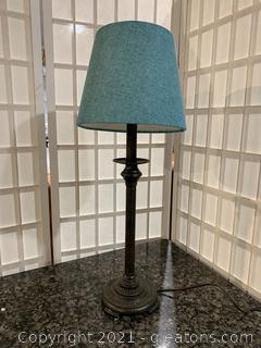 Metal Table Lamp W/Shade
