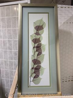 Framed Leaf Art Work