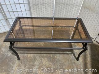 Out Door Glass Top Patio Table