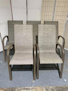 Set of 5 Patio Chairs
