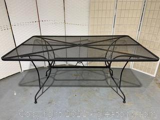 Black Iron Patio Table