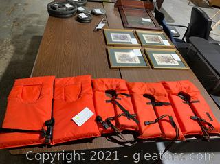 5 Youth Water Vests 50lb-90lb