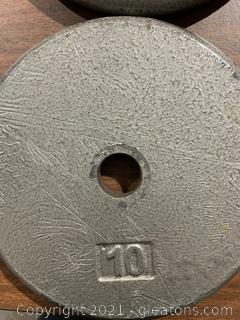 Pair of Metal Weights 10 LBS Each