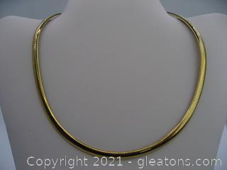 14kt Yellow Gold Omega Chain