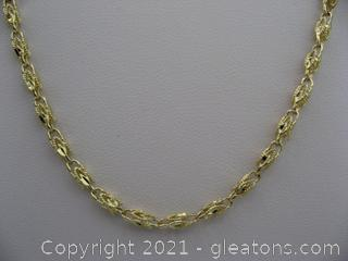 14kt Yellow Gold Fancy Link Chain