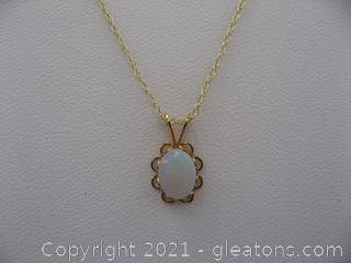 14kt Yellow Opal Necklace