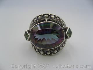 Mystic Topaz Ring in Sterling Silver