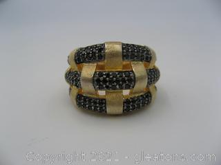 Onyx Woven Ring