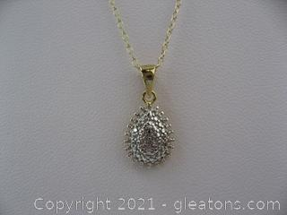 Sterling Silver Pear Shaped Necklace
