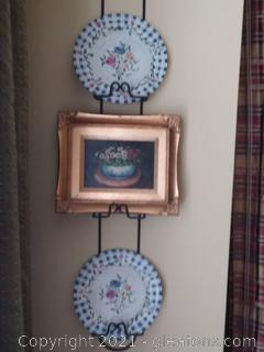 Wall Decor Group - displayed with 3 tier Plate Hanger