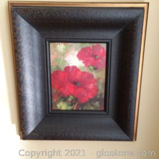 Oil Painting of Poppies (B)