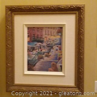 Original Oil on Canvas Painting Signed and Framed