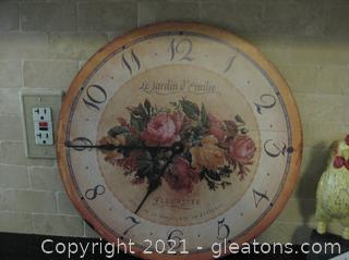 Genuine Time Works Wall Clock
