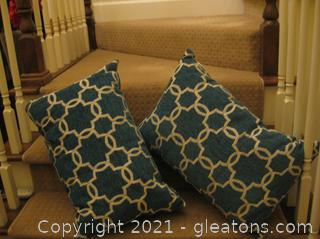 Pair of Bright Throw Pillows