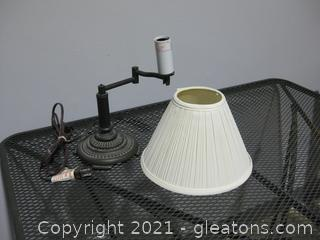 Small Metal Table Lamp with Adjustable Arm