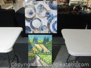 2 Pieces of Canvas/Vinyl Wall  Art