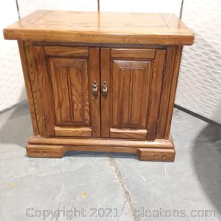 2 Door End Table/ Utility Table