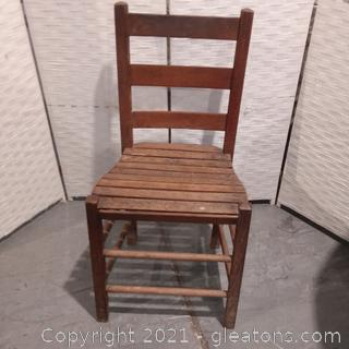 Slatted Seat Chair