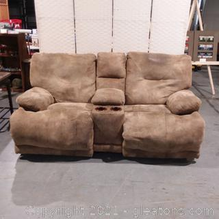 2 Person Loveseat recliner (Electric) Microfiber Suede