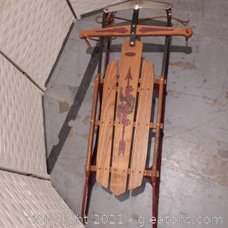 Vintage Flexible Flyer Sled-Wood and Steel