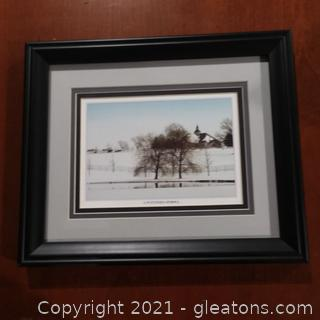 """A Winter's Stroll"" Framed Print"