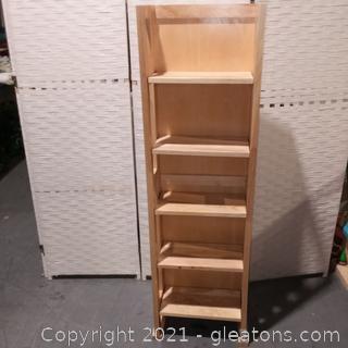 Narrow 5 Shelf Display/Book Shelf