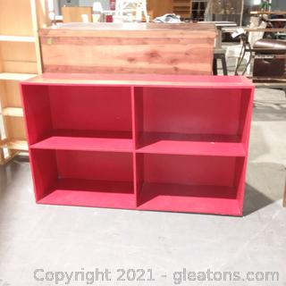 4 Section Red Bookcase – Great for kid's Room