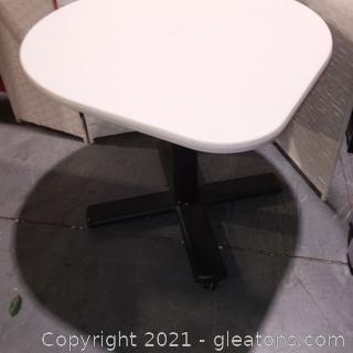 Rolling Teardrop Corner Table