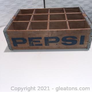 Vintage Pepsi Cola Wooden Crate