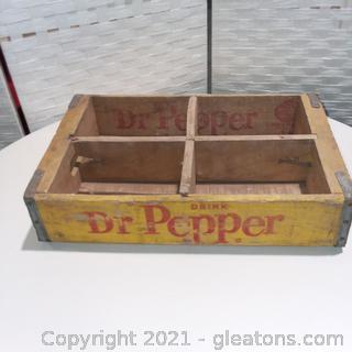 Vintage Dr. Pepper Wooden Crate