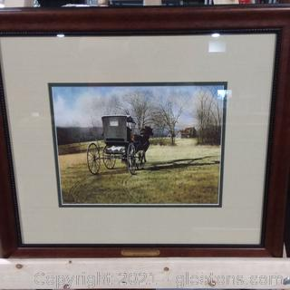 """Framed Lithograph """"Country Doctor"""" by Steve White"""