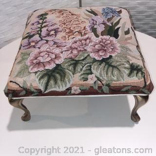 Floral Print Footstool