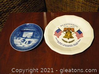 Lot of 2 Vintage Collectors Plates