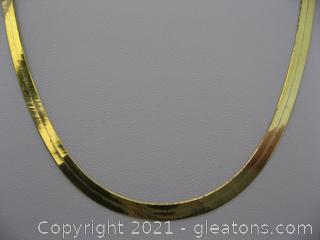 14kt Yellow Gold Herringbone Chain