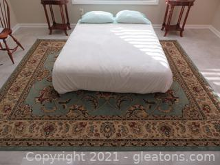 Elegant King Collection Area Rug Blue (located in cottage 1 upstairs)